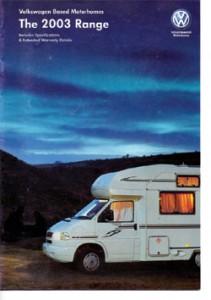 2003 VW T4 Transporter Camper Model Range Sales Brochure