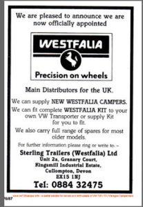 RHD Westfalia T25 Camper