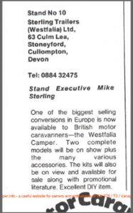 Westfalia VW T25 Camper Official UK Agents