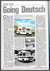 Jan 1989 Autosleeper VHT Magazine Article