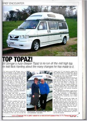 VW T4 Topaz Magazine Review