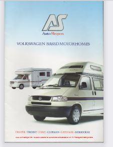 June 2001 VW T4 Autosleeper Sales Brochure