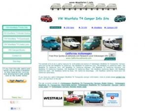 VW T4 Transporter Westfalia Camper Info Site