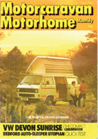 1983 VW T25 / T3 Devon Sunrise Magazine Rev
