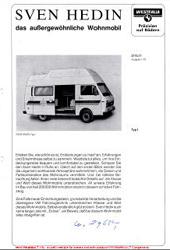 1979 VW LT Sven Hedin Brochure