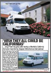 March 2001 VW T4 Westfalia California Exclusive Magazine Review