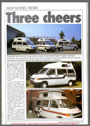 Nov 1991 VW T4 Magazine Article Autohomes, Autosleeper and Holdsworth