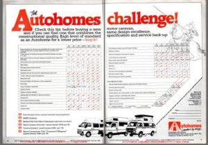 VW T25 Autohomes Kamper Kameo Karisma Magazine Advert