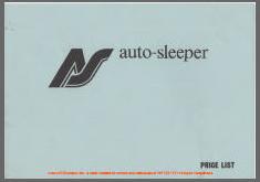 Oct 1980 VW T25 Autosleeper Pricelist